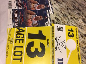 Parking pass only: UVA vs. duke men's basketball