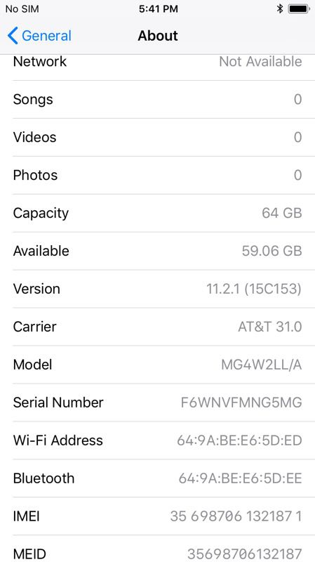 Carrier Unlocked iPhone 6 64GB Space Gray