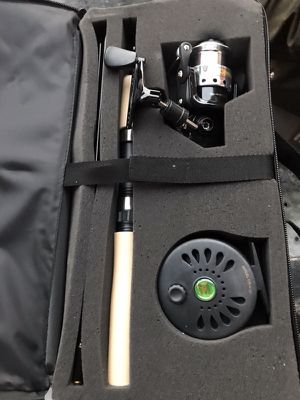 NEW fly fishing and spinning wheel combo