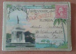 Antique Jacksonville Fold Out Postcards 1915