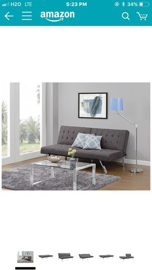 Futon Sofa Bed Grey linen Brand New in the Box Black