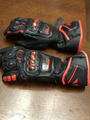 Dianese Druid Long D1 Gloves Color:Black/Black/Fluo Red Size:SM