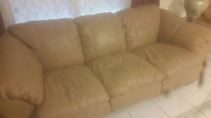 Tan 100% Leather brand new couch and love seat