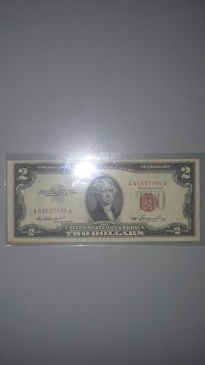 1953 Red Seal Two Dollar Bill