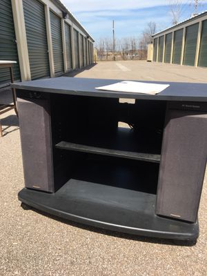 Stand with built in speakers