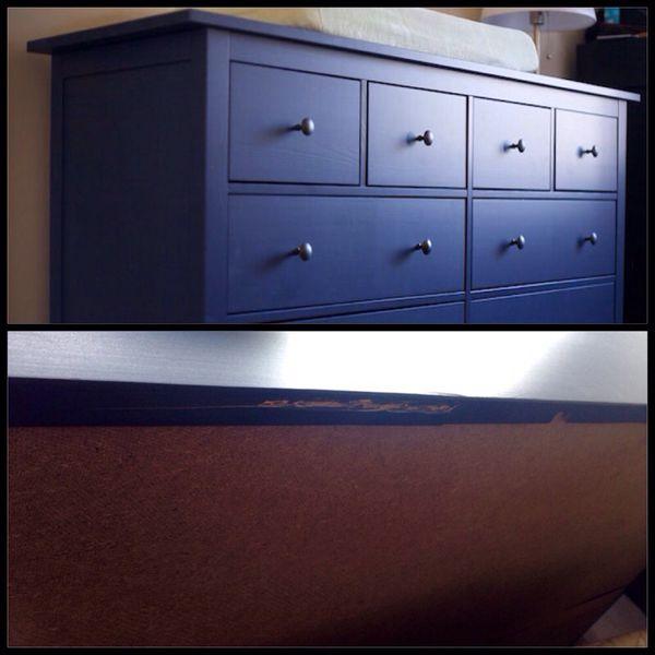 Ikea Hemnes  Drawer Dresser Blue
