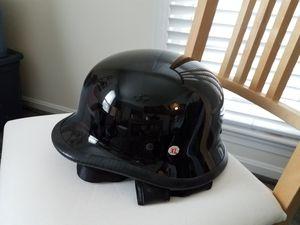 XL black motorcycle helmet