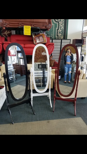Brand new free standing mirrors available in multiple different colors brand new in box