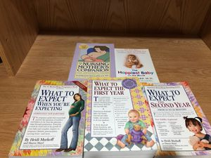Pregnancy, breastfeeding, infant care books