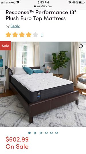 """Brand New in Sealed Plastic SEALY PosturPedic 13"""" Plush Queen Eurotop Mattress"""