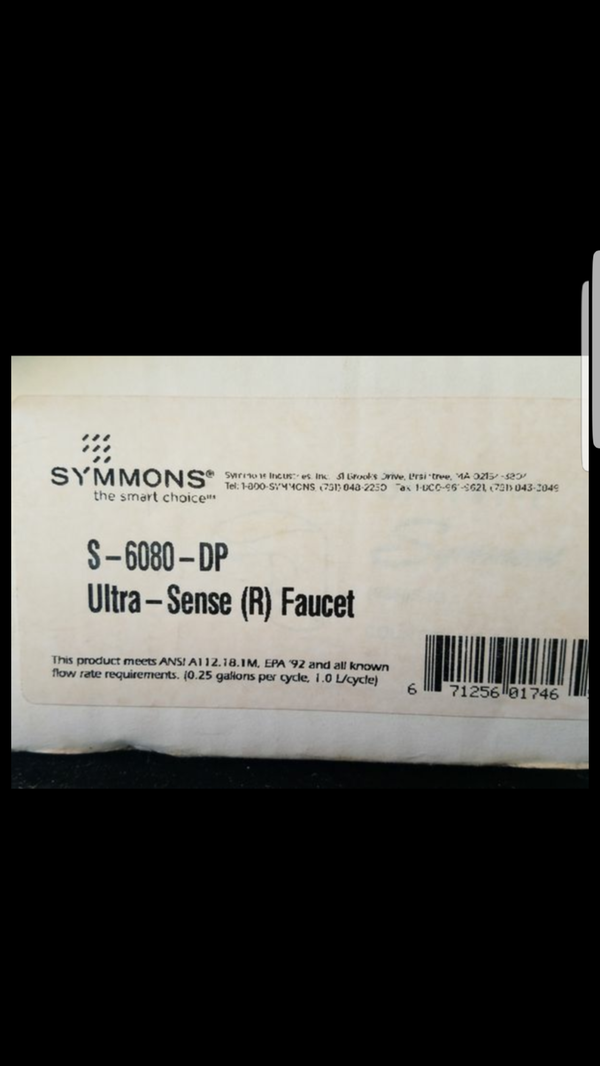 Symmons commercial grade touchless motion activated single hole ...