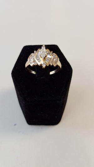 14K Diamond Wedding Ring 0.80 CTW