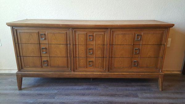 Dixie Mid Century Modern 9 Drawer Dresser Furniture In
