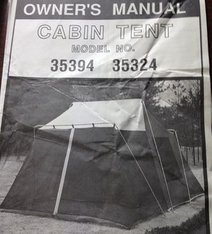 Cabin tent for sale. $50