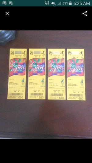 Collectible Unused 1996 Atlanta Olympics Tickets