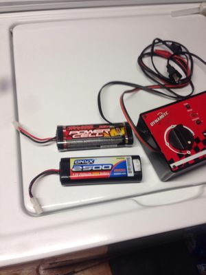Rc car charger and 2 nimh batteries