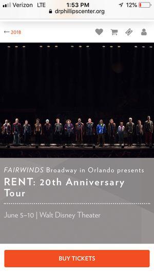 Broadway show RENT tix