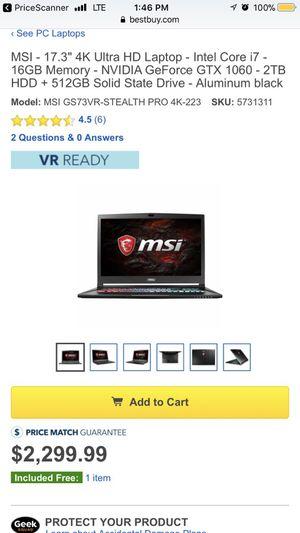 MSI GS73 VR 7RF STEALTH PRO 4K
