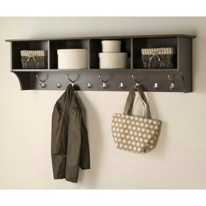 """Prepac Hanging Entryway Wall Shelf, 60"""" Wide, ESPRESSO"""