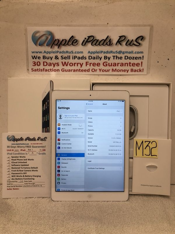 M32 - iPad Air 1 16GB