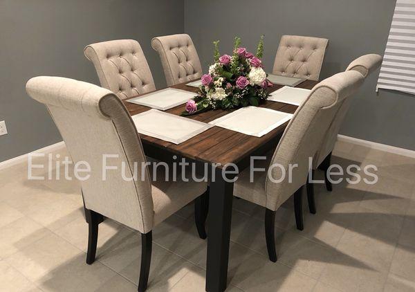 7Pc Rustic Dining Room Set (Furniture) in Chula Vista, CA - OfferUp