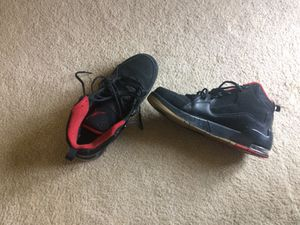 Nike Jordan Advance Black and Red Sneakers Size 11