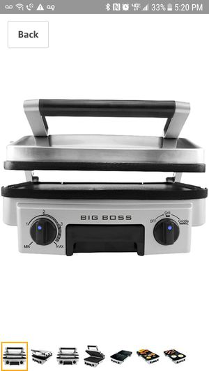 Big Boss Stainless Reversible Grill