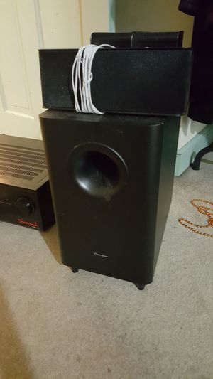 Pioneer home sub and speakers.
