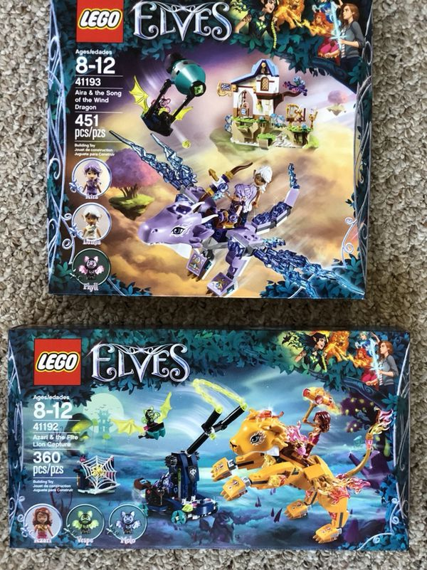 BRAND NEW / Elves Lego Sets Azeri & the Fire Lion Capture & Aira ...