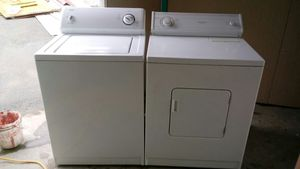 KENMORE WASHER AND WHIRLPOOL ELECTRIC DRYER(im willing to deliver for extra fee