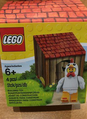 Lego chicken suit guy Easter figure in coop-new