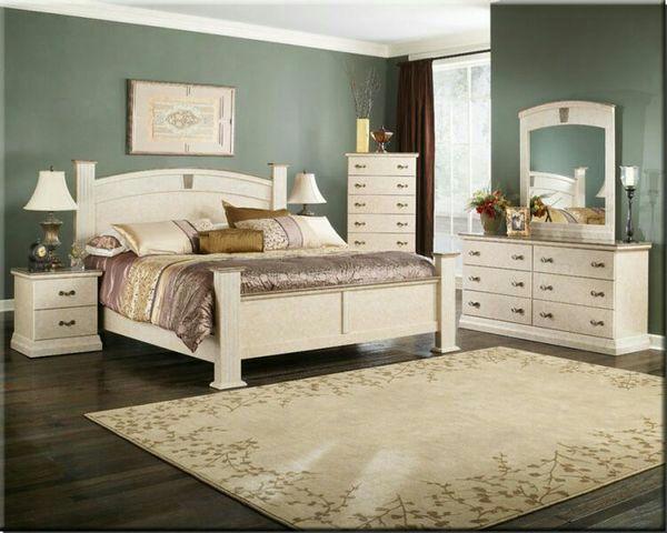 Perdue Sicilian Faux Marble King Bedroom Set (Furniture) in Gilbert, AZ