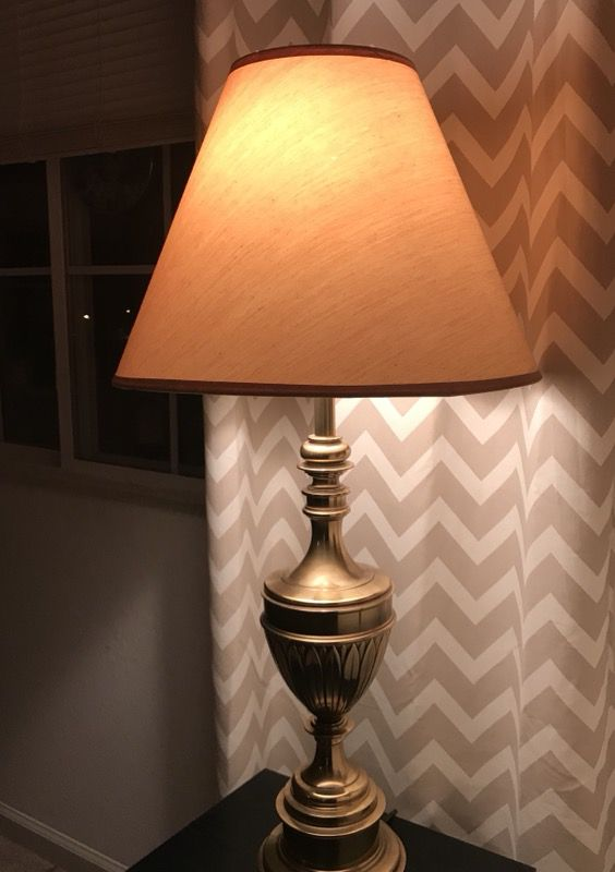 """MOVING SALE Vintage Solid Brass Table Lamp 35"""" inches tall (very heavy)  (Household) in Columbia, SC"""