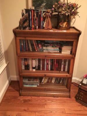 Antique wood book case