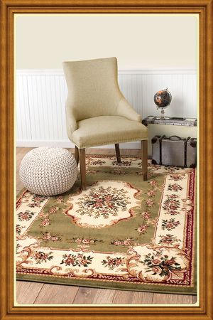 Brand new traditional design area rug size 5x8 nice green carpet Persian style rugs and carpets