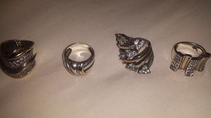 Rings of gold and silver. Used. Pieces uniqueness.