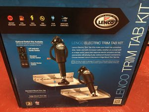 For Sale~Lenco Trim Tab Kit PLUS Switch