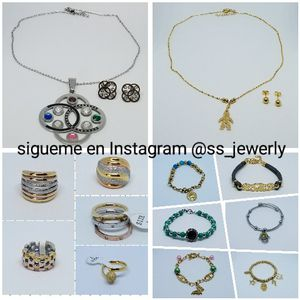 Stainless Steel Jewelry Women Wholesale and Retail/ Accesorios Acero Quirurgico