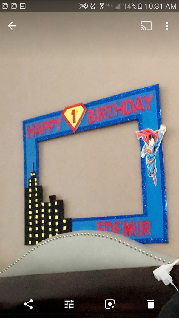 Superman photo frame marco tematico (Arts & Crafts) in Riverside, CA