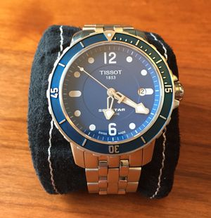 Tissot Seastar Swiss Automatic w/ Blue Dial Men's Watch