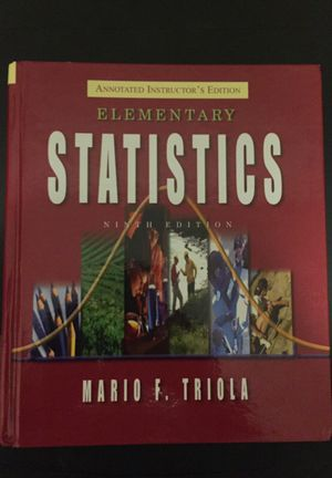 Text book: Statistics by Mario F. Triola