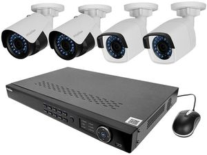 Security camera system, Video recorder and cameras