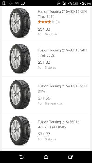 4X fuzion touring 215/60/R16 95H