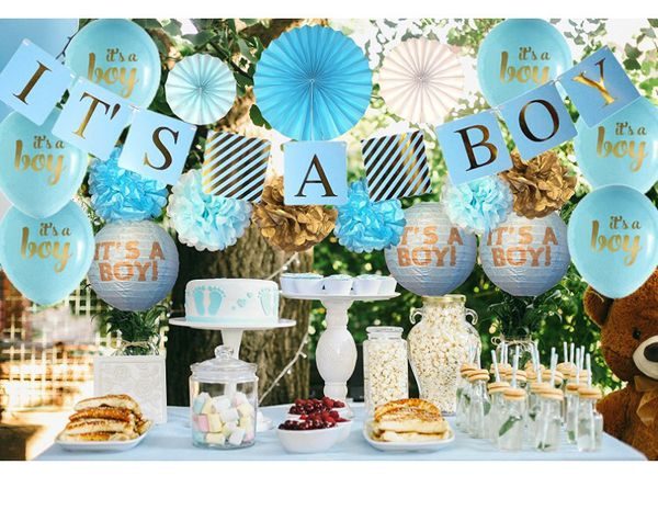 Baby Shower Decorations For Boy Its A Boy Banner Free Baby