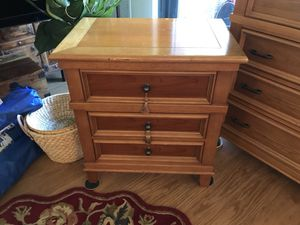Maple Dresser and Matching Nightstand