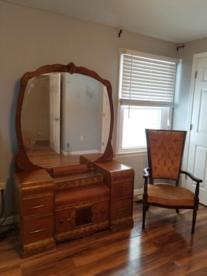 Antique Waterfall Vanity