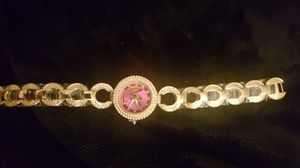 MK gold and pink ladies watch
