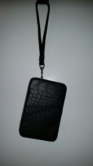 Small black hard case wallet