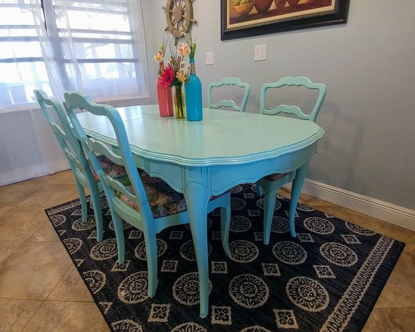 Kitchen Tables And Chairs Melbourne Ocean mist blue wood kitchen table w 4 chairs furniture in ocean mist blue wood kitchen table w 4 chairs furniture in melbourne fl workwithnaturefo