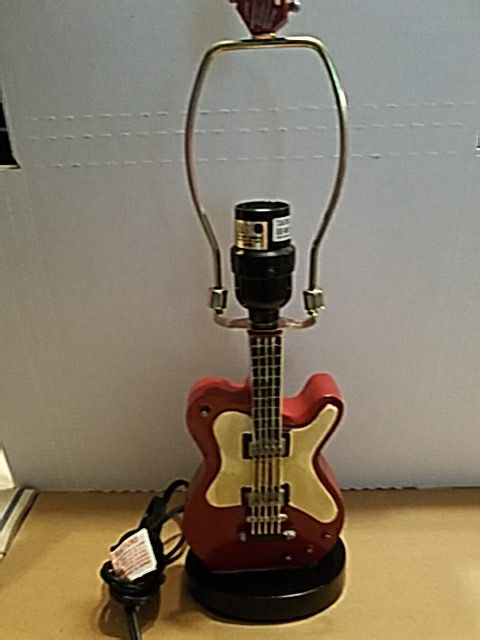 17 guitar lamp base works no lamp shade included musical 17 guitar lamp base works no lamp shade included aloadofball Gallery